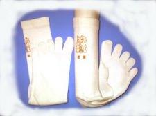 金猫プリント5本指靴下